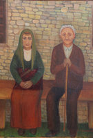 Grandfather and grandmother, oil on canvas, 40x50 cm